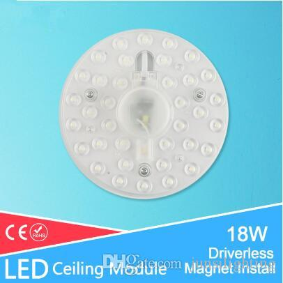 18w 220V 간편한 설치 천장 램프 자석 LED 모듈을위한 다운 라이트 천장 액세서리 조명 Recesse의 lampara 교체