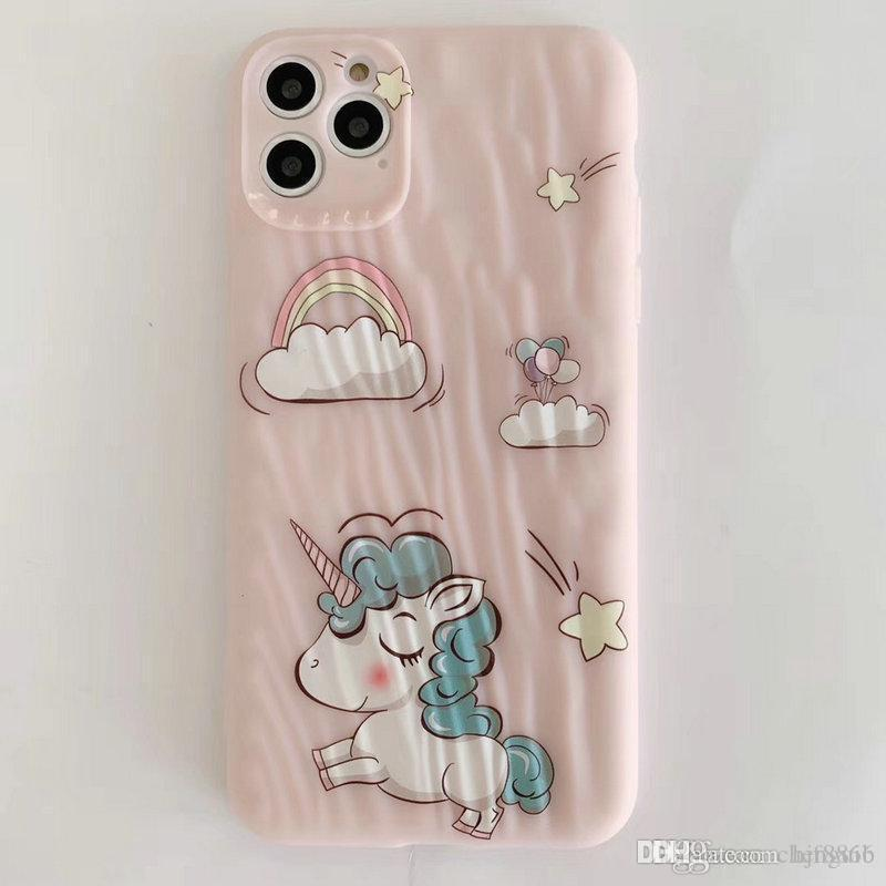 2020 new fashion Rainbow horse mobile phone case for iphone 11 11pro max Xr Xs max X 7 7plus 8 8plus 6 6plus TPU soft case 00