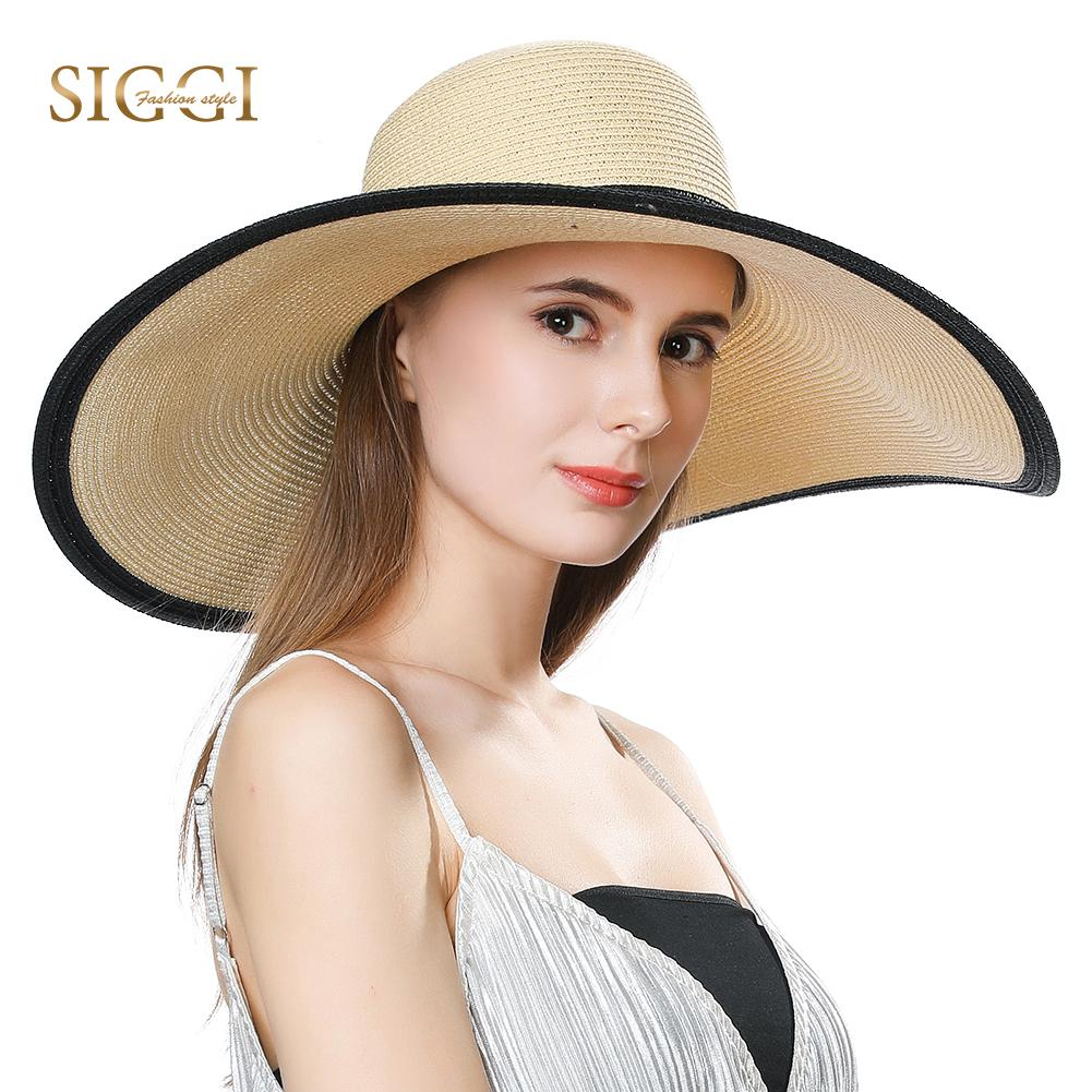 c45e8645649 FANCET Summer Womens Beach Straw Hats Wide Wavy Brim Casual Fashion Soft  Sun Hats UPF50+ Protection Fitted Straw Hats 16025 Hat World Ladies Hats  From ...