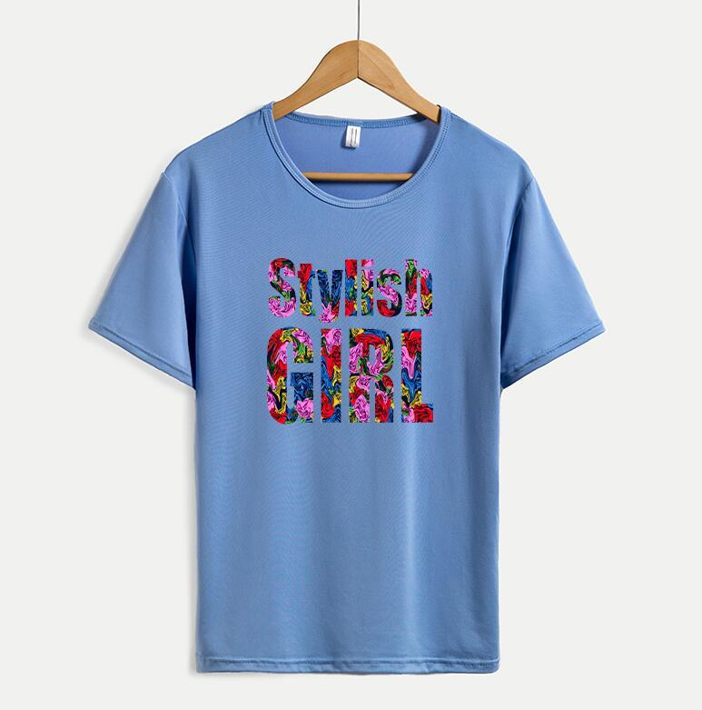 Moda fai da te Mens delle magliette delle donne con lettere casuali di estate camice Mens Tee Tops Taglia M-4XL Disponibile