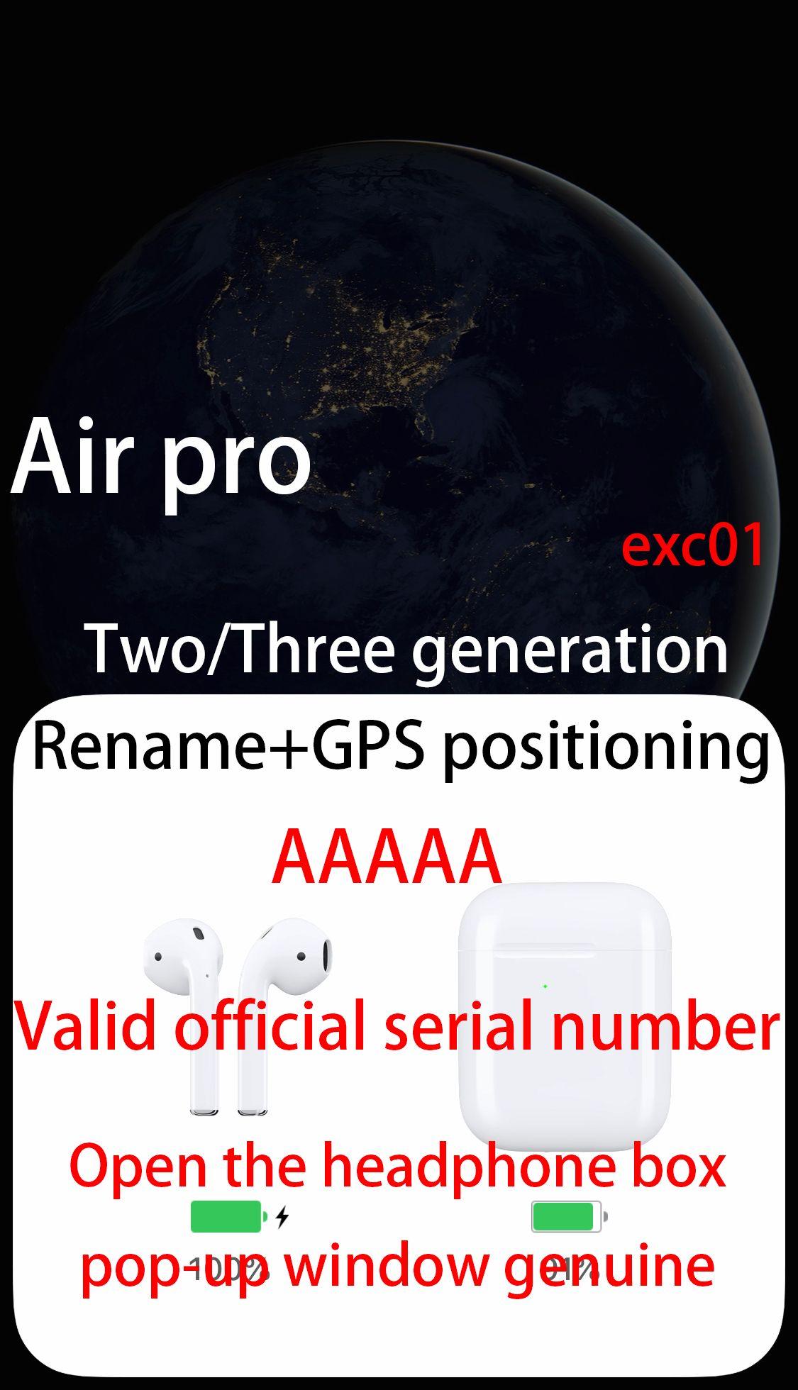GPS H1 칩 프로 에어 헤드폰 이름 바꾸기 GPS는 최고의 사운드 품질과 관련된 센서 PK I18 I12 I200 I500 I9000 i10000 TWS 포드 이어폰