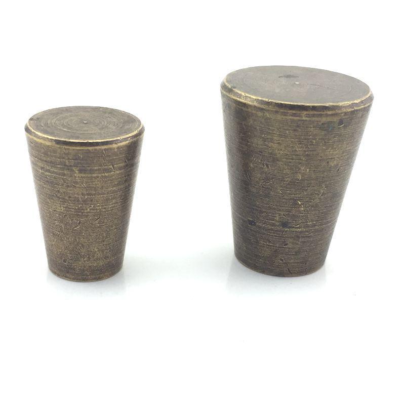 Cepillado Vintage latón macizo gabinete perillas de cocina de bronce precio al por mayor muebles Dresser perilla del tirón de tirar de muebles hardware