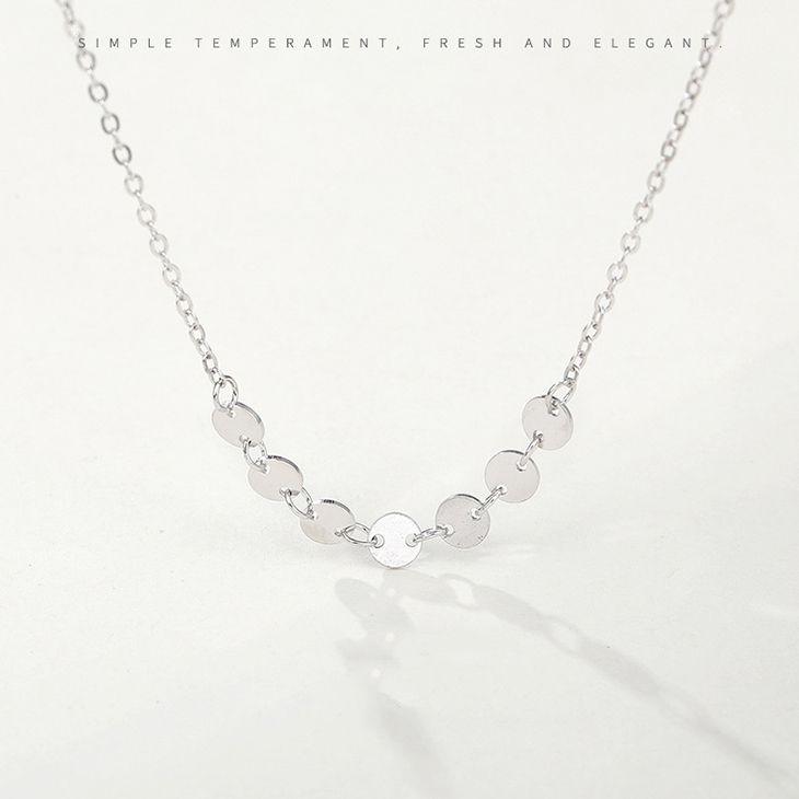 Moda Jóias 100% Autêntico Sólido 925 Sterling Silver Mulheres Cadeia Colar 50 cm Para As Mulheres 5 pçs / lote