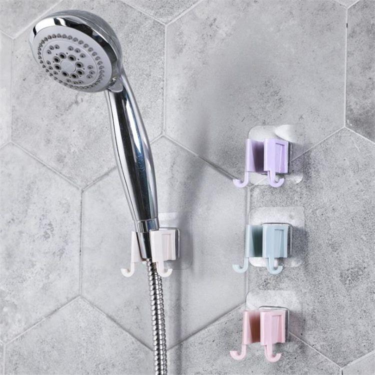 Hot Home Nicht perforierte Duschständer, Duschkopf-Base-Klebstoff-fester Aufhänger, einstellbarer Duschständer 6037