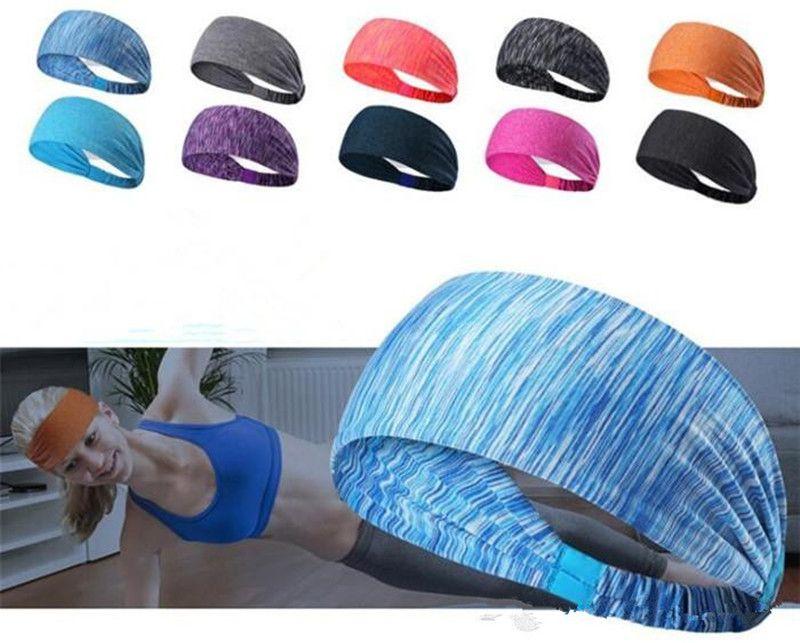 60Pcs Sport Headband Under Sweat Wicking Stretchy Athletic Bandana Headscarf Yoga Headband Head Wrap
