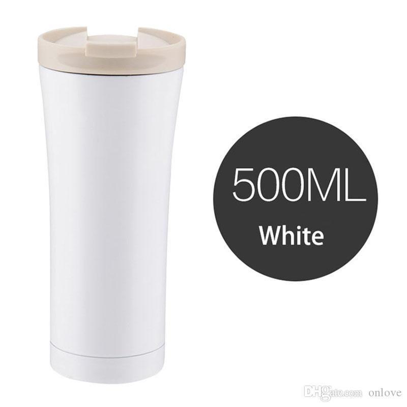 500 мл кофейные чашки из нержавеющей стали вакуумная изоляция кружка открытый путешествия бутылка воды пиво напиток Кола кружки бесплатно DHL XD20623