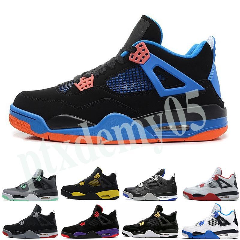 Nike Air Jordan 4 AJ4 Retro scarpe da uomo di basket 4s Quello che il 4 Loyal Blu allevati Cool Grey gatto nero puro denaro cemento bianco uomini allenatore sportivo sneakers p05