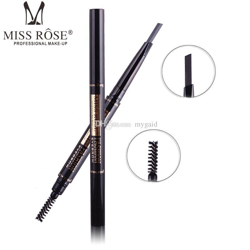 DHL libera el envío Miss Rose Makeup Miss Rose Eyebrow pencil Lápiz de doble ceja con un pincel
