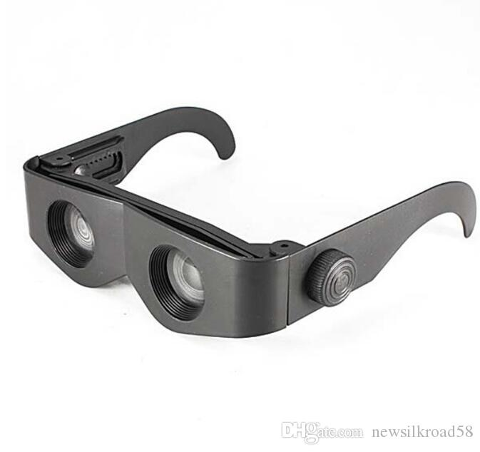 Eyeglasses Style Black Frame Magnifier Telescope Binoculars for Fishing