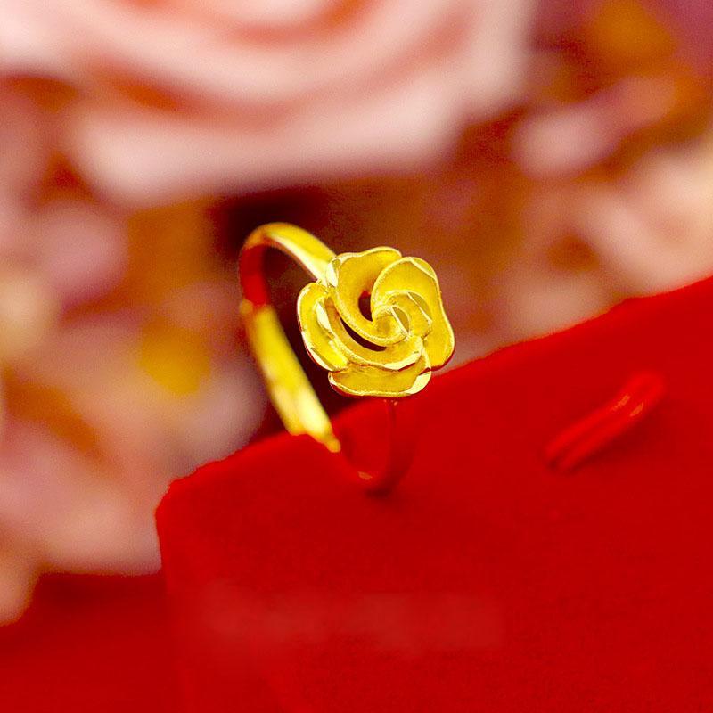 Nuevo anillo de flores de moda para mujer, anillo de cola pequeña, joyería para mujer, anillo de la suerte, regalo de joyería de lujo exquisito
