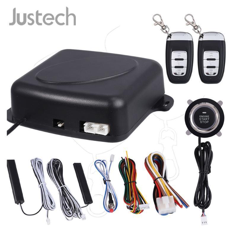 Justech 9PCS Mulitifuntion Akıllı E Modelleri Uzaktan Kumanda Oto Alarm Başlangıç Sistemi itin Buttonn Akıllı Anahtarsız Bir Set