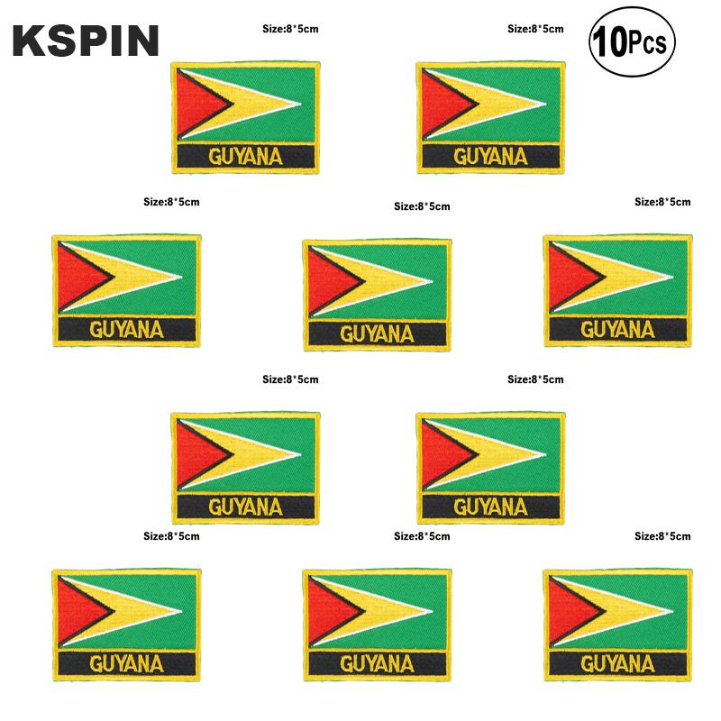 Guyana Flag Aufnäher Eisen auf Saw on Transfer patches Nähen Anwendungen für Bekleidung in HomeGarden
