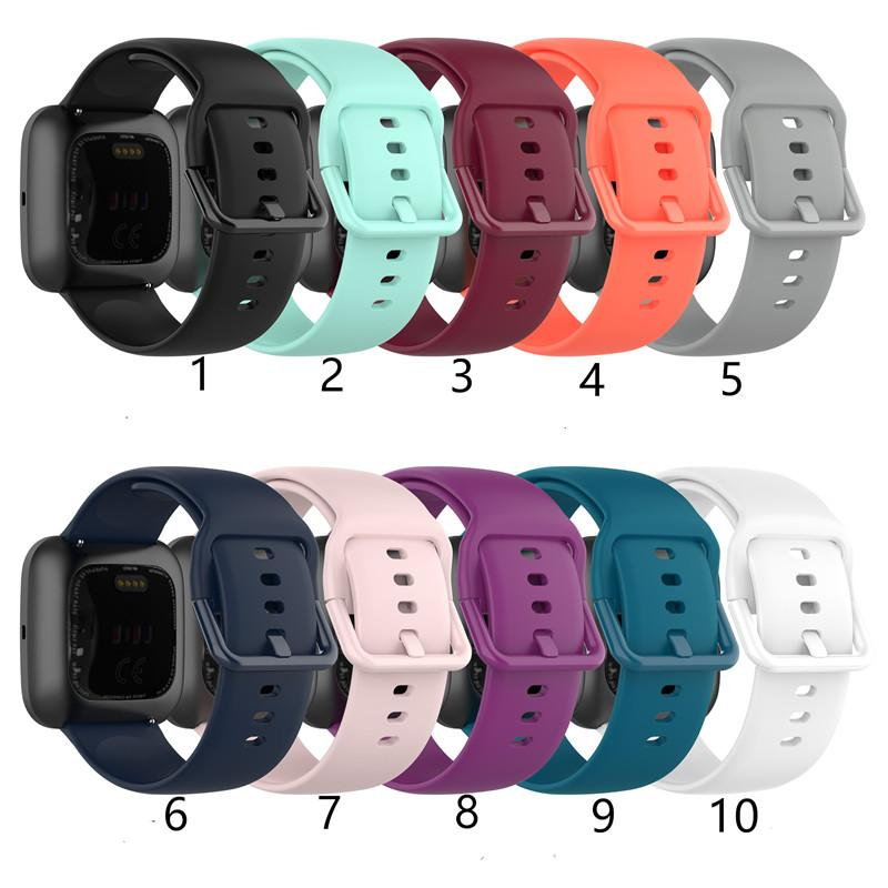 Venda de la correa de la pulsera de silicona clásico reemplazo correas Universal Band Para Fitbit Versa 2 Lite SE