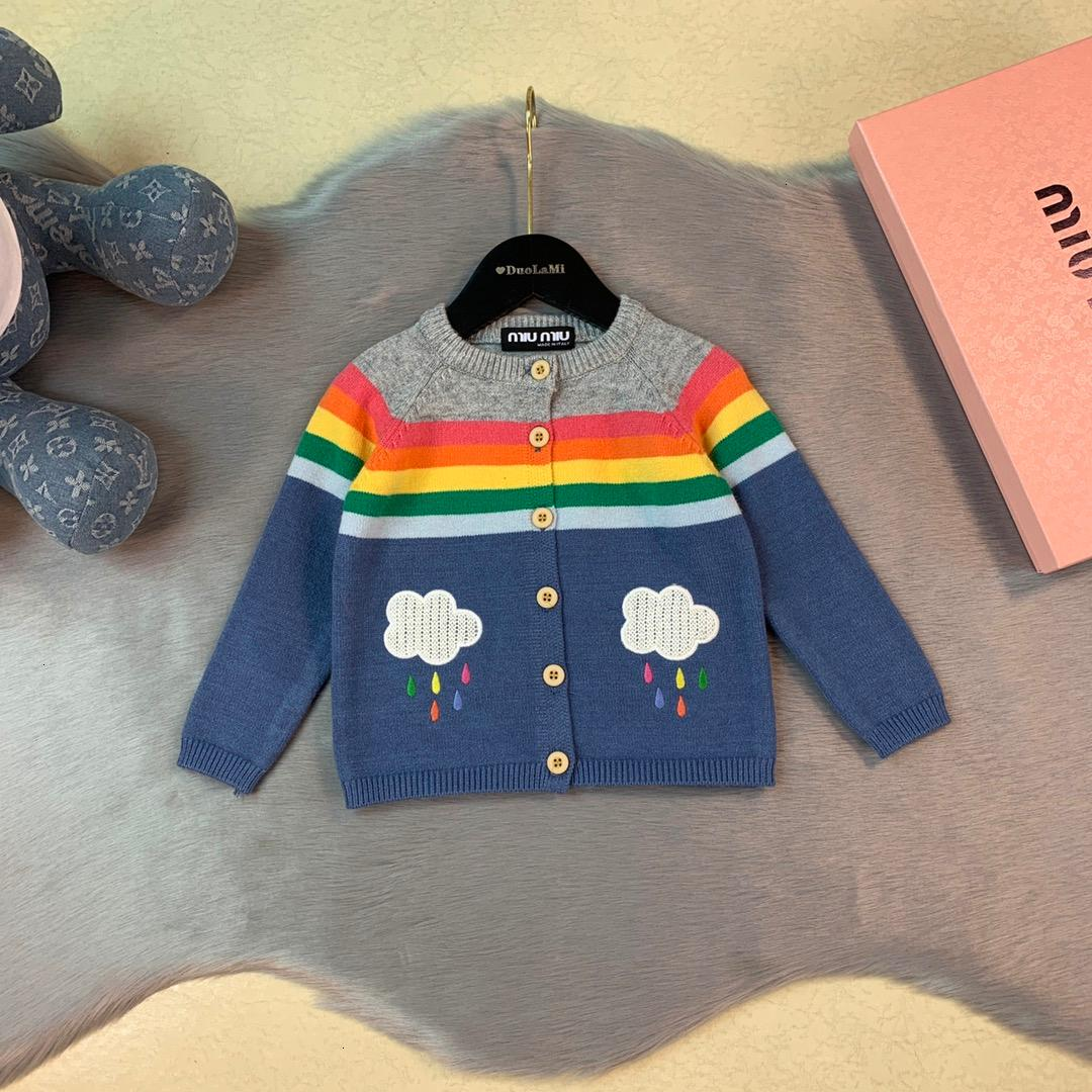Children sweaters kids designer clothing autumn fashion new boys and girls cardigan coat cotton knit material cloud cartoon cardigan