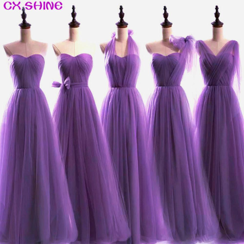 CX 샤인 사용자 정의 Colorsize 새로운 100 색상 컨버터블 드레스 긴 들러리 드레스 웨딩 파티 파티 드레스 여자 플러스 로브 S19715