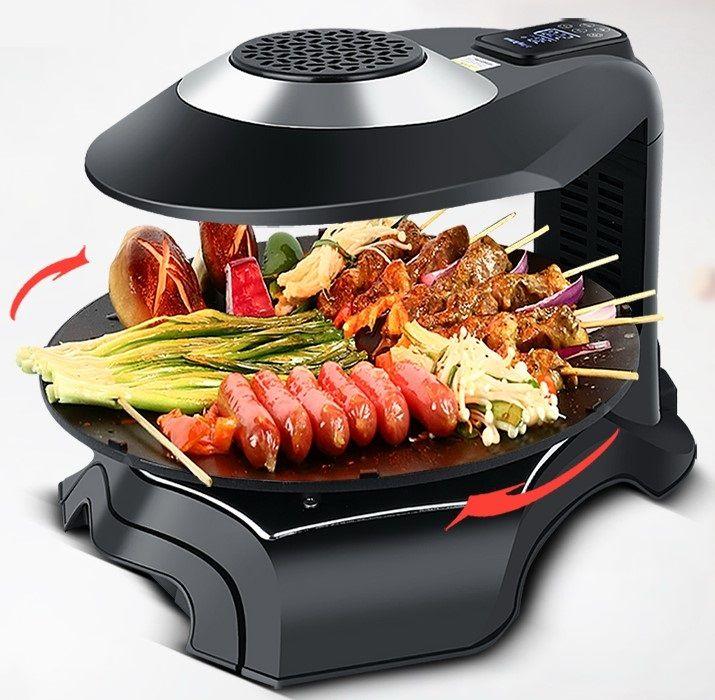휴대용 3D 적외선 전기 바베큐 그릴 바베큐 테이크 아웃 전기 오븐 전자 온도 제어 80-280 ° C 220V 024-2