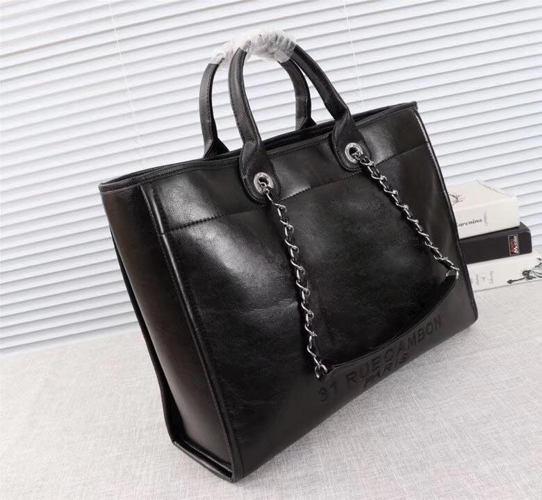 2018 고품질 숙녀 쇼핑 가방, 디자이너 어깨 쇼핑 가방, 여성 캐주얼 손 쇼핑백 크기 : 43 * 30 * 13CM