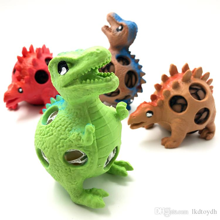 Funny Squishy Dinosaur Grape Ball Vent Mesh Ball Squeeze Decompression Children's Toys Stress Release Squeeze Ball toys Gifts