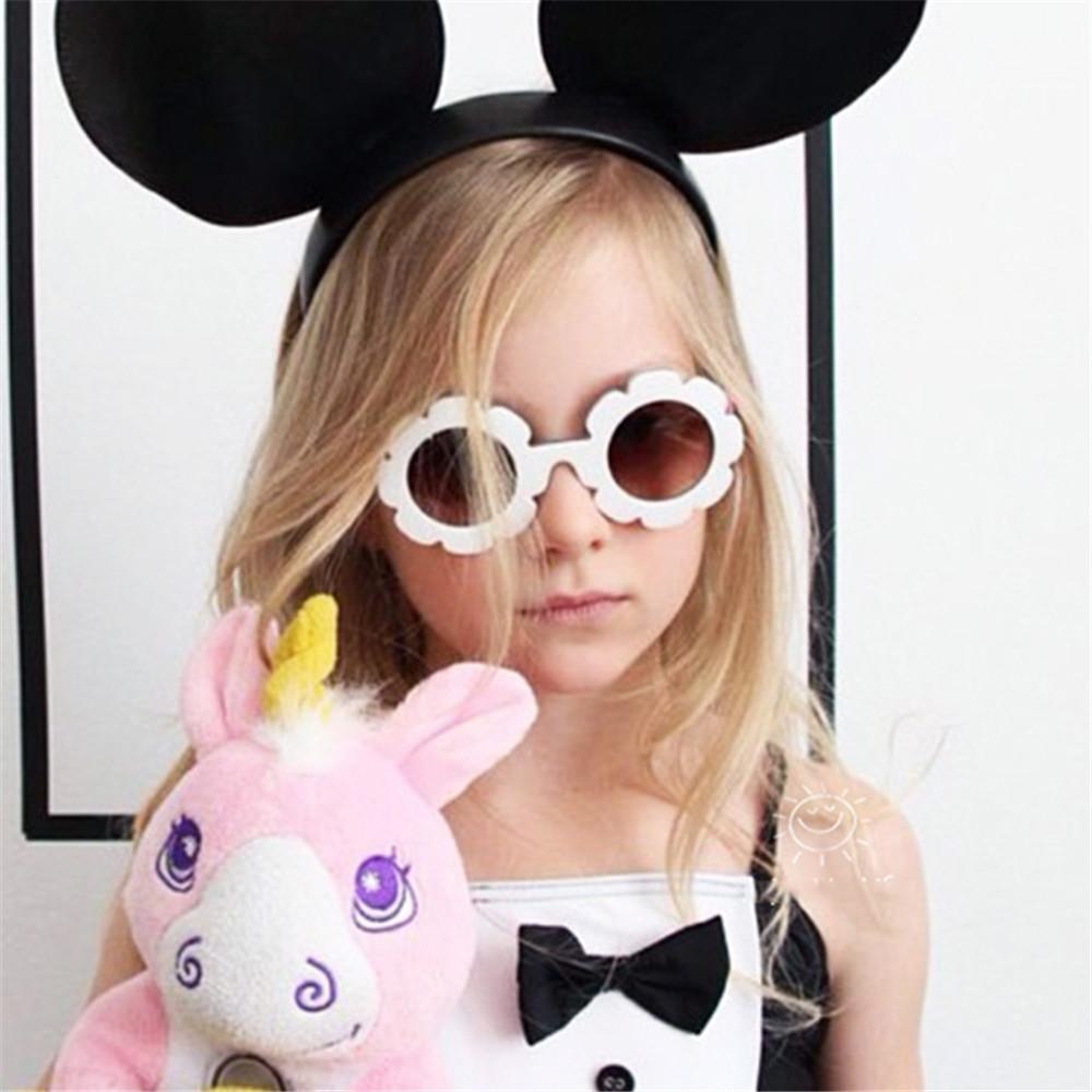 Gafas de sol de la vendimia para niños Niños Gafas de sol Gafas flor redonda niños del bebé UV400 gafas de sol deportivas Niñas Niños Gafas de Sol BTFJj