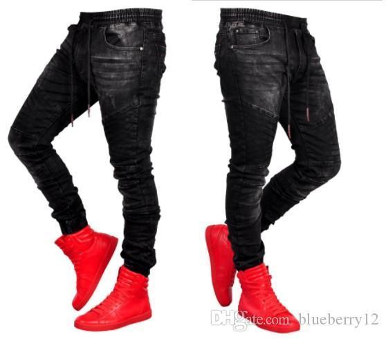 Jeans Uomo di stile di modo Streetwear diritte misura sottile dei pantaloni 2019 di nuova vendita calda dei jeans del denim asiatico formato S-3XL