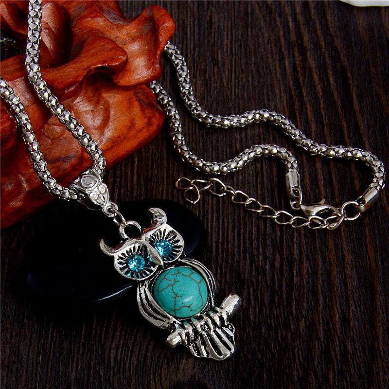 2020 occhi azzurri in pietra naturale di alta qualità collana gioielleria epoca belle color argento pendente per wowen