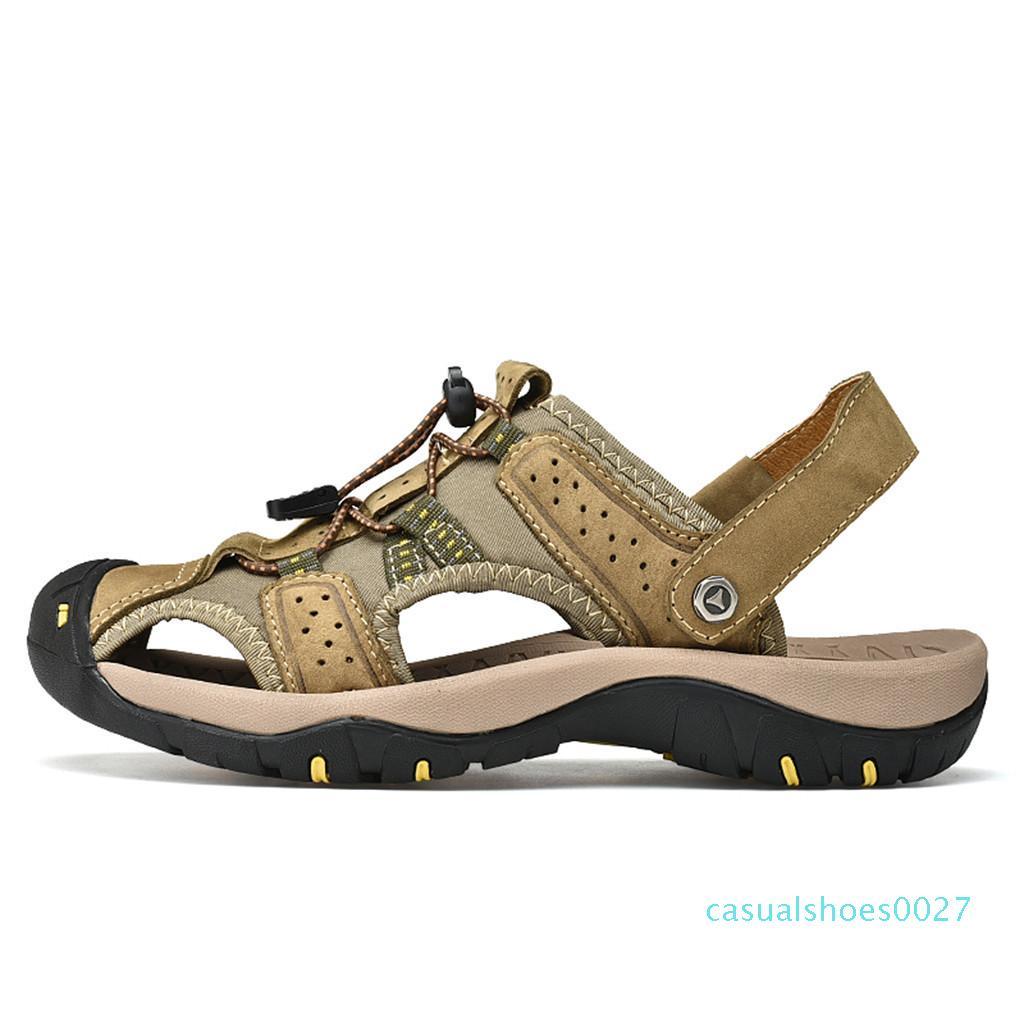 SAGACE sandálias homens sandalias hombre homens sandálias de verão europeus e americanos Flat Shoes summen oco Sandalen G0704 # 10 c47