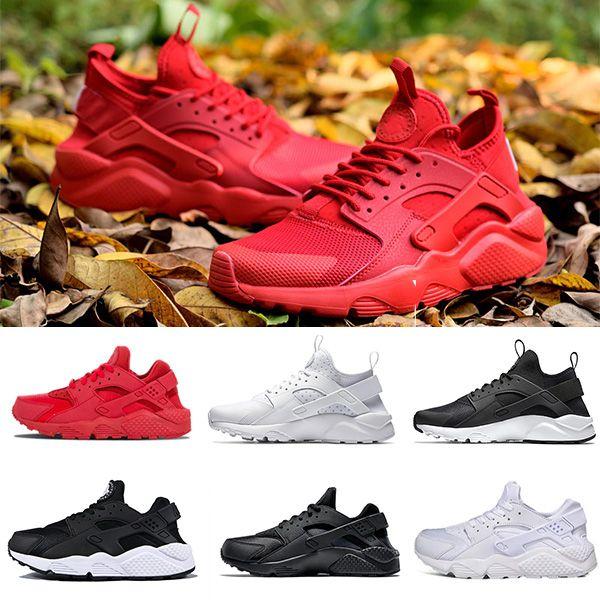 Nike Air Huarache 1.0 4.0 running shoes beyaz kırmızı nefes erkek eğitmen moda spor ayakkabı koşucu boyutu 36-45 için ultra koşu ayakkabıları çalıştırmak