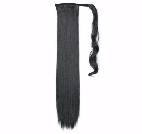 2019 Peruk Uzun Düz Saç Tokası Ile Klip Yanlış At Kuyruğu Postiş Tokalar Ile Sentetik Saç Midilli Uzantıları