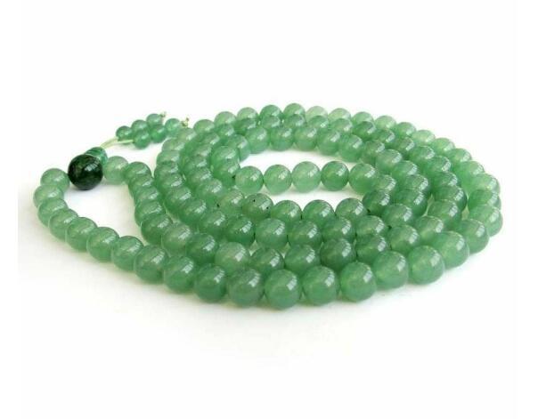 Jewelryr Jade Collier nouveau 8mm Vert Jade Tibet Bouddhiste 108 Prière Perles Mala Collier Livraison Gratuite