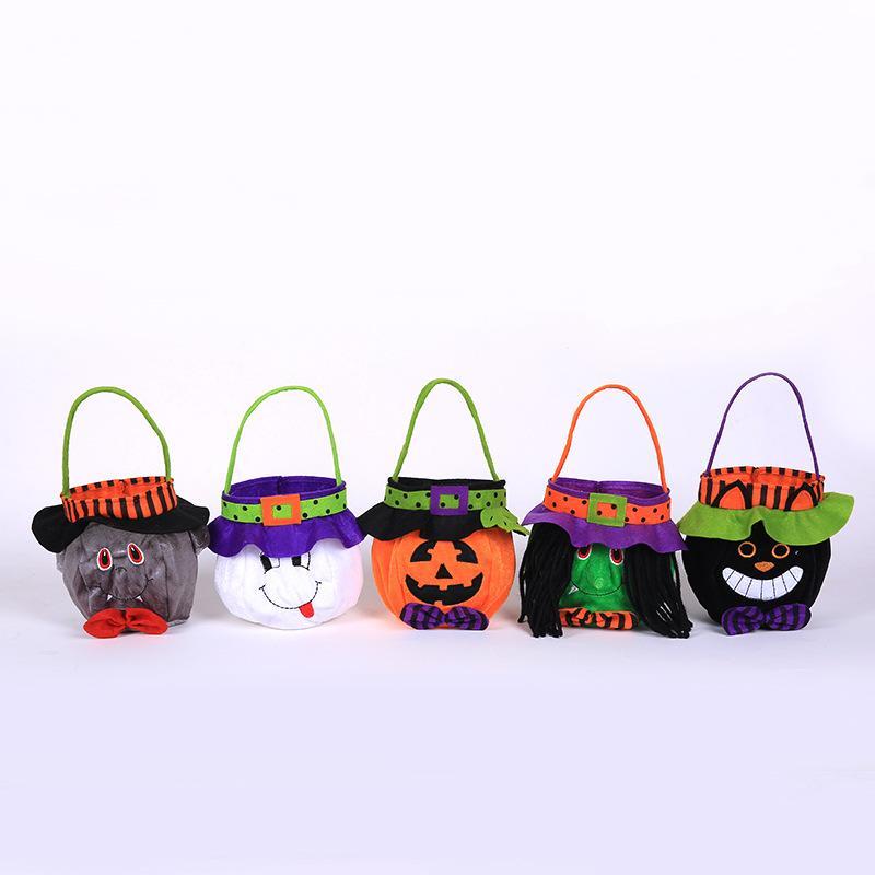 Bolsas de regalo de Halloween Vestir Prop Bolsa de regalo de dulces Bruja Calabaza Bolsa de transporte de mano Festival de niños Adorno de fiesta de Halloween 5 45 mg p1