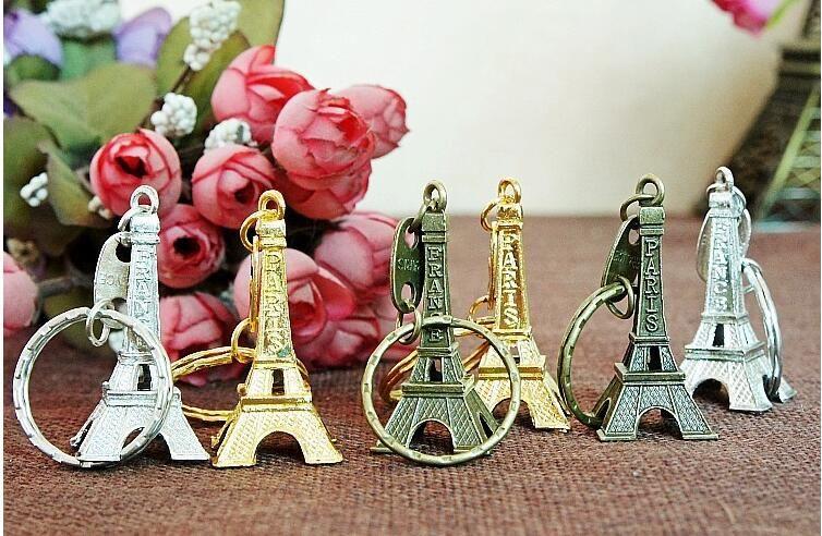 خمر 3d باريس برج ايفل المفاتيح الفرنسية تذكارية باريس كيشاين كيرينغ مفتاح سلسلة حلقة