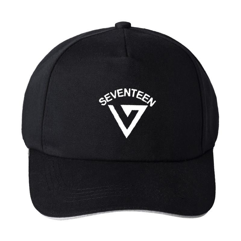 New Kpop BlackPink SEVENTEEN EXO VEUX UN Caps Coton Automne Printemps Boy Baseball Chapeau Casquette Sunhat Noir Couleur Rose Outwear