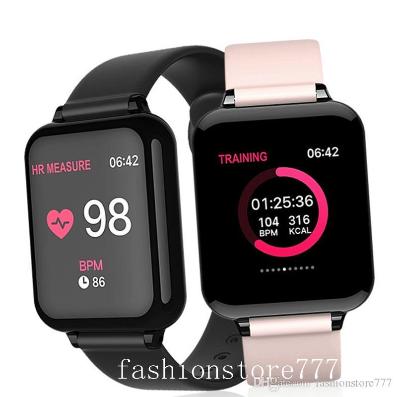 iPhone inteligente Nuevo reloj inteligente reloj teléfono Función Presión impermeable Deporte inteligente reloj monitor de ritmo cardíaco Sangre Mujer Hombre Universal 2020