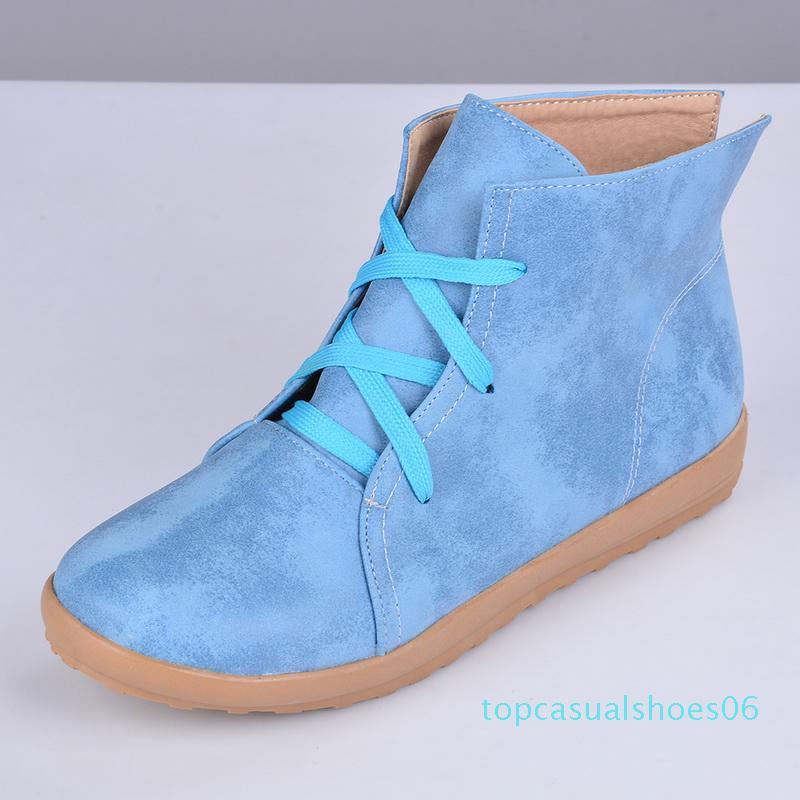 MoneRffi Yeni loafer'lar Sneakers Casual Retro El Dikiş Ayakkabı Kadınlar Flats pu Deri Dantel-up Hafif Yumuşak Alt Ayakkabı 06T