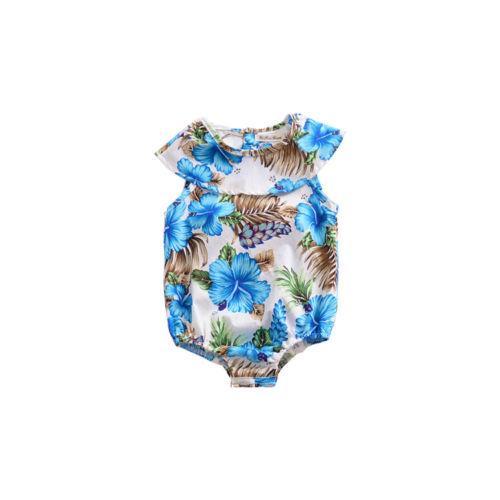 2.019 recém-nascido Floral Bebés Meninas Romper Bodysuit Macacão roupas Outfits sunsuit