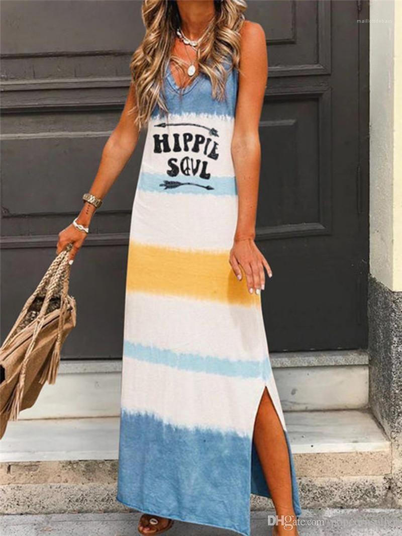 Printed Fashion Kleidung Sexy-Strand-Party-Kleid-Frauen-Sommer-Kleider Sleeveless V Ansatz beiläufig A Line