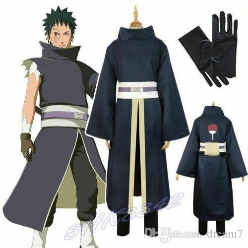Cosplay HOT Akatsuki Ninja Tobi Obito Tobi Suit Manto Uniforme