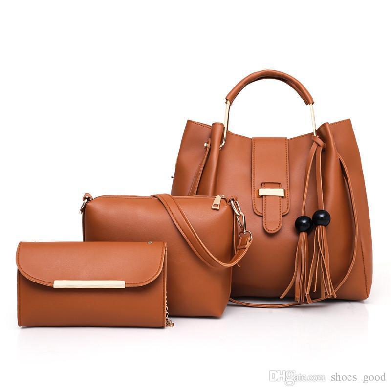 2019Hot New Classic Plain Vintage Style Cross Body Bag for Women Fashionable Shoulder Bucket Bag for Business Women Lady Handbag Purse Totes