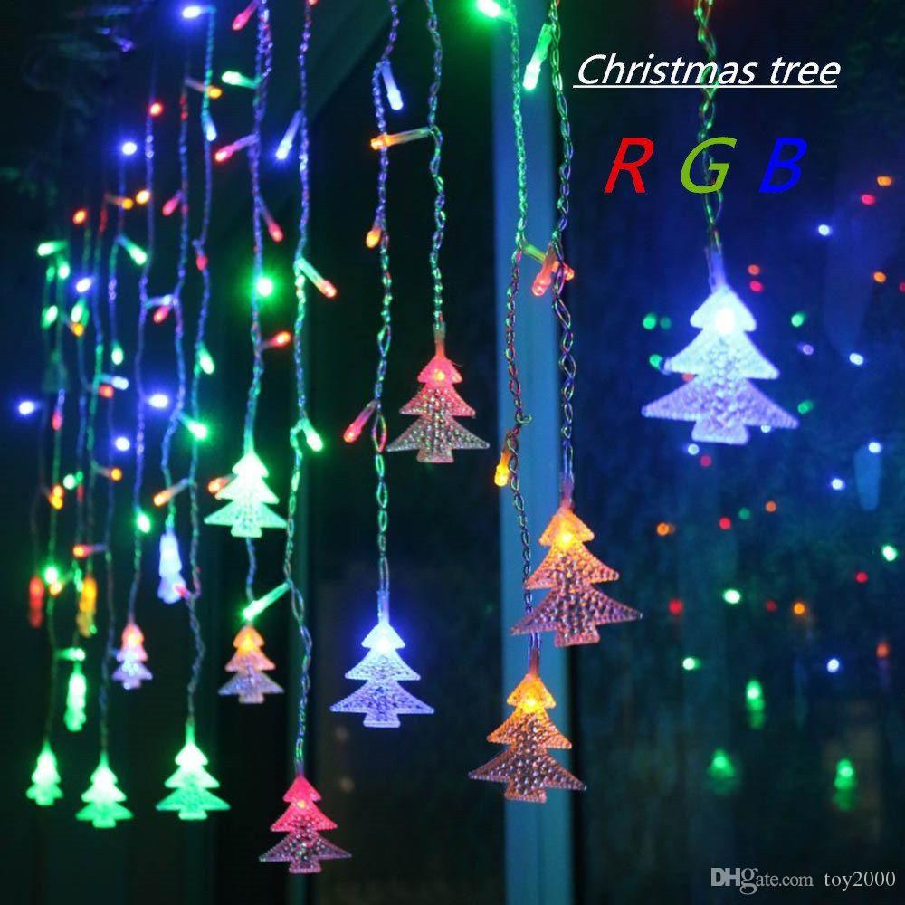 3.5 M 96 LED Tenda per tende Albero di Natale Ghiacciolo Stringa Luci Luci da fiaba Luci di Capodanno Natale Luci per decorazioni per feste di nozze