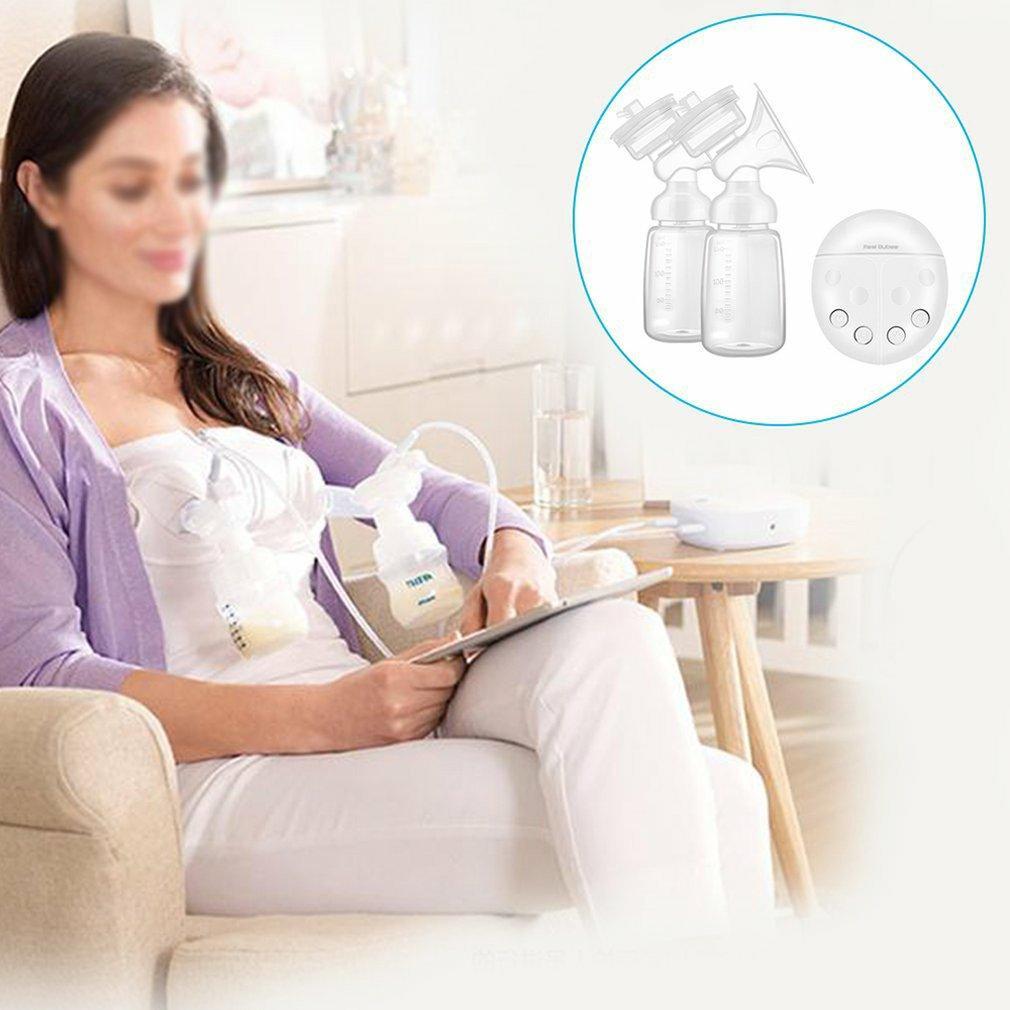 Двойной электрический молокоотсос с молоком бутылки Младенец USB BPA бесплатно Baby Грудное вскармливание Автоматический массаж Послеродовая молокоотсос