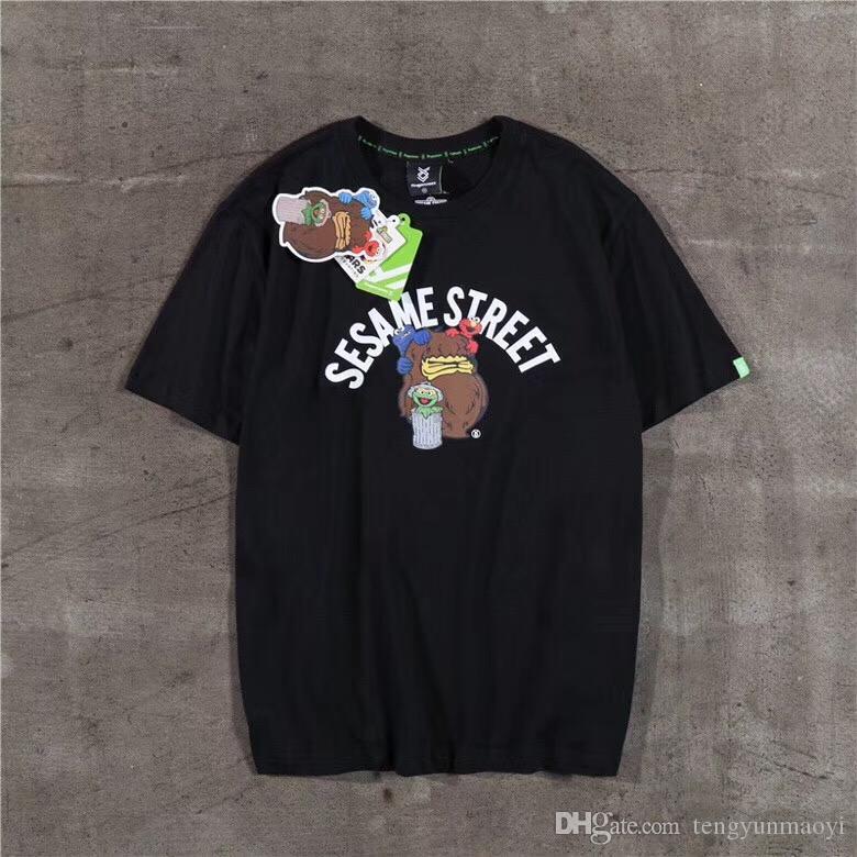 Модные женские футболки европейского и американского бренда дизайн мультфильма печать букв случайные с короткими рукавами для мужчин и женщин