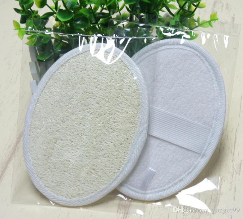 11 * 16cm luffa naturale pad luffa scrubber rimuovere i morti luffa pelle rilievo della spugna per casa o in albergo 50pcs