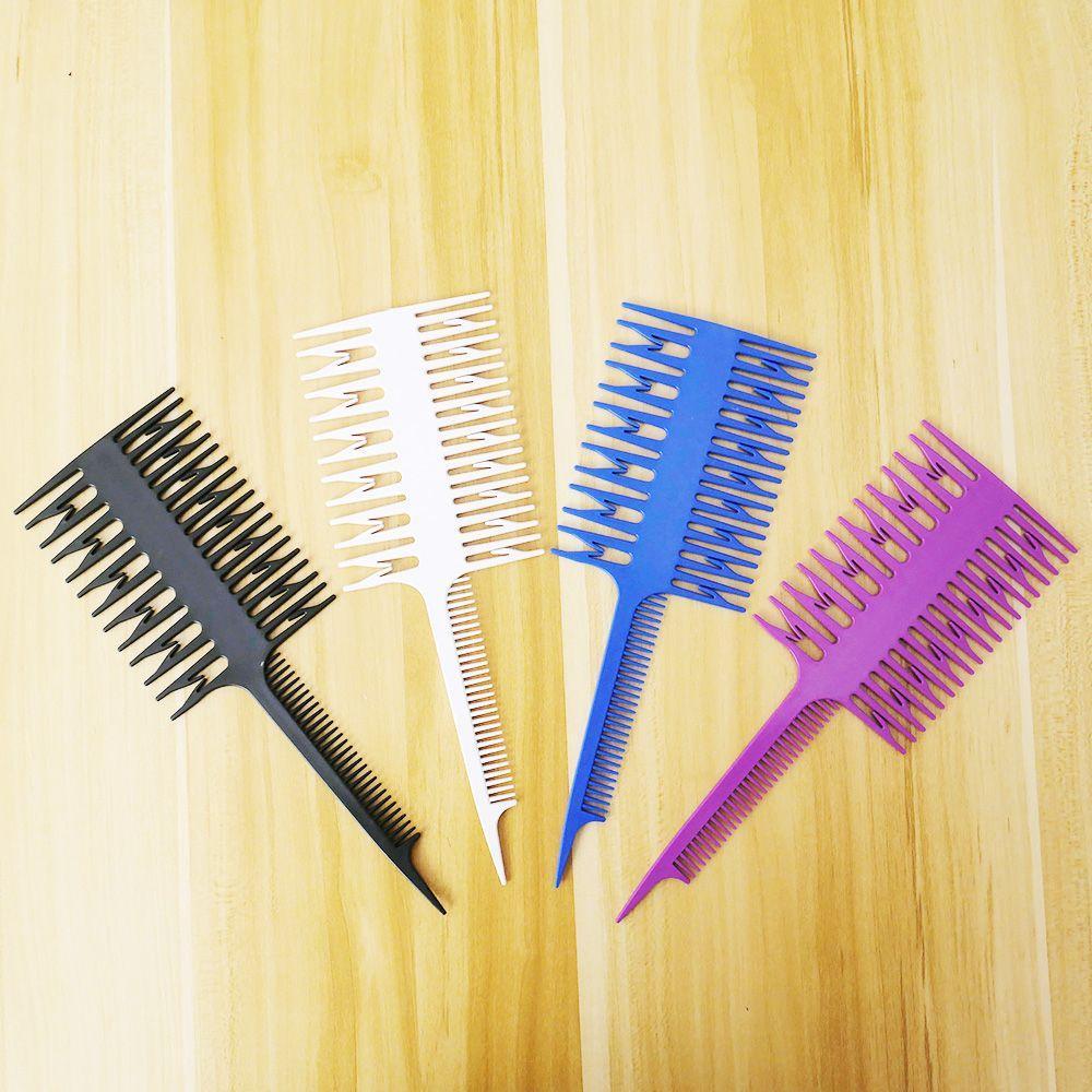 1pcs femmes Chignons Big dents Peigne outil Dyeing Salon professionnel poisson forme d'os Peigne Peigne Mise en évidence Dyeing Sectionnement