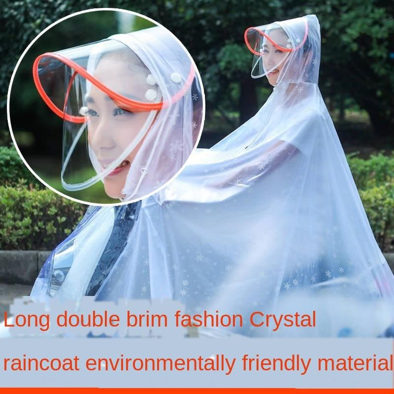 WeVow single and double poncho motorcycle bicycle raincoat universal raincoat for men and women Motorcycle electric vehicle electric vehicl