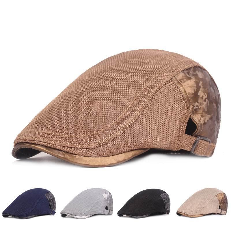 Kagenmo Mesh Beret Fashion Leisure Summer Cool Beret Fishing Golf Commitary Hat Breathable Short Brim Spring