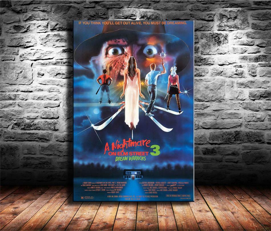 A Nightmare on Elm Street EUA Horror, HD Canvas Impressão Pintura Decoração New Home Art / (Unframed / Framed)