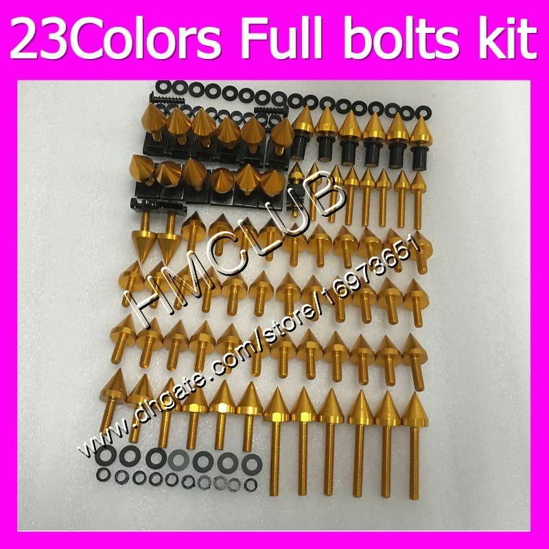tornillos Carenado pernos completo kit para YAMAHA YZFR1 98 99 YZF R1 YZF 1000 YZF1000 YZF1000 YZFR1 1998 kit 1999 MC78 OEM cuerpo tuercas de los pernos de la tuerca de tornillo