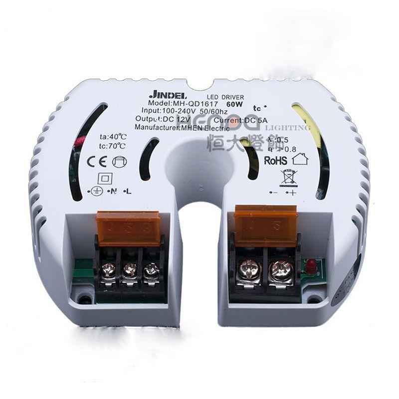 MHEN JINDEL AC100-240V إلى DC12V 12W 20W 40W 60W 100W ثابت الجهد LED سائق التيار الكهربائي عن قطاع ضوء مصباح حبة