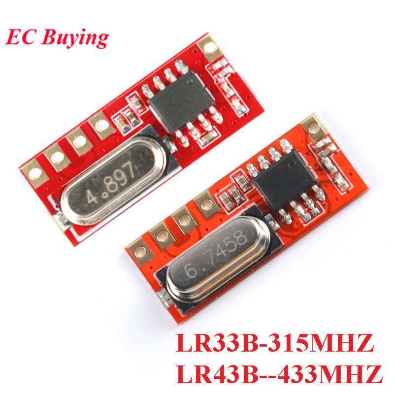 لوازم lectronic مكونات 315MHz ل433MHz والمتغاير RF الوحدة 43 33 لاسلكي للتحكم عن بعد وحدة استقبال DIY LR43B-433M LR33 ...