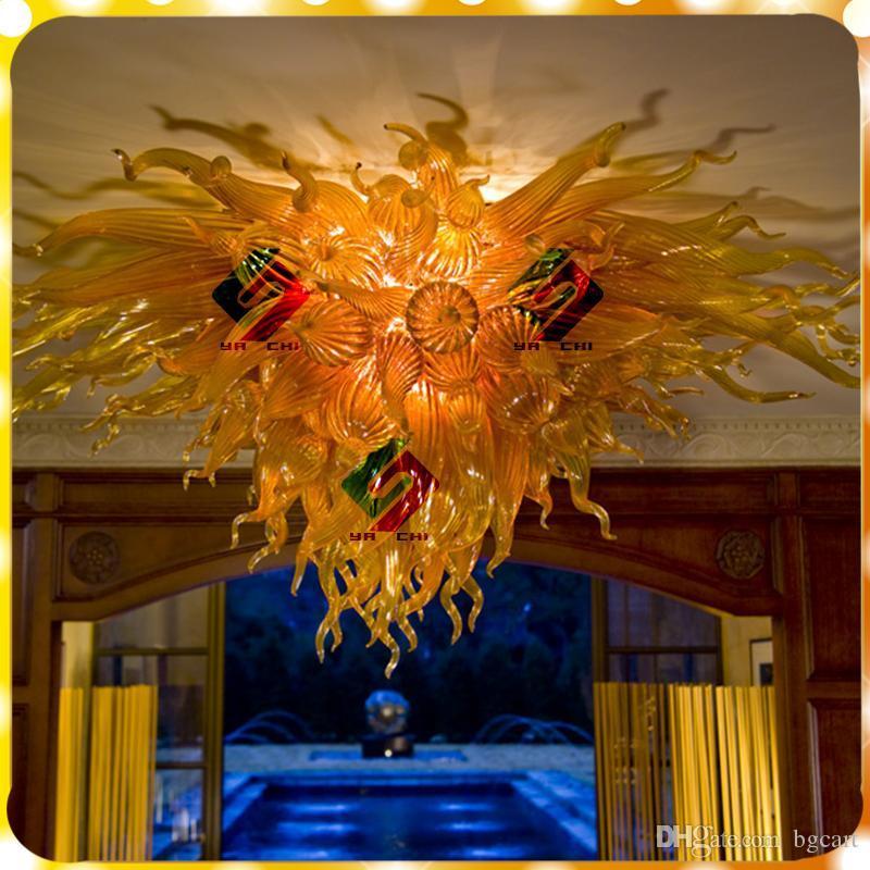 اليد الحديثة نفخ الثريات ضوء مصباح الزخرفية السقف الفن تصميم الأبيض مورانو الزجاج الثريا قلادة مصابيح للديكور المنزل